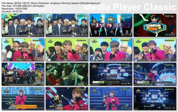 [ENG] 150121 Show Champion Jonghyun Winning Speech [blingdinosaur].avi_thumbs_[2015.01.21_22.10.37]